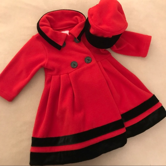 NWT New Sophie Rose Toddler Girls Microfleece Coat Black 2T